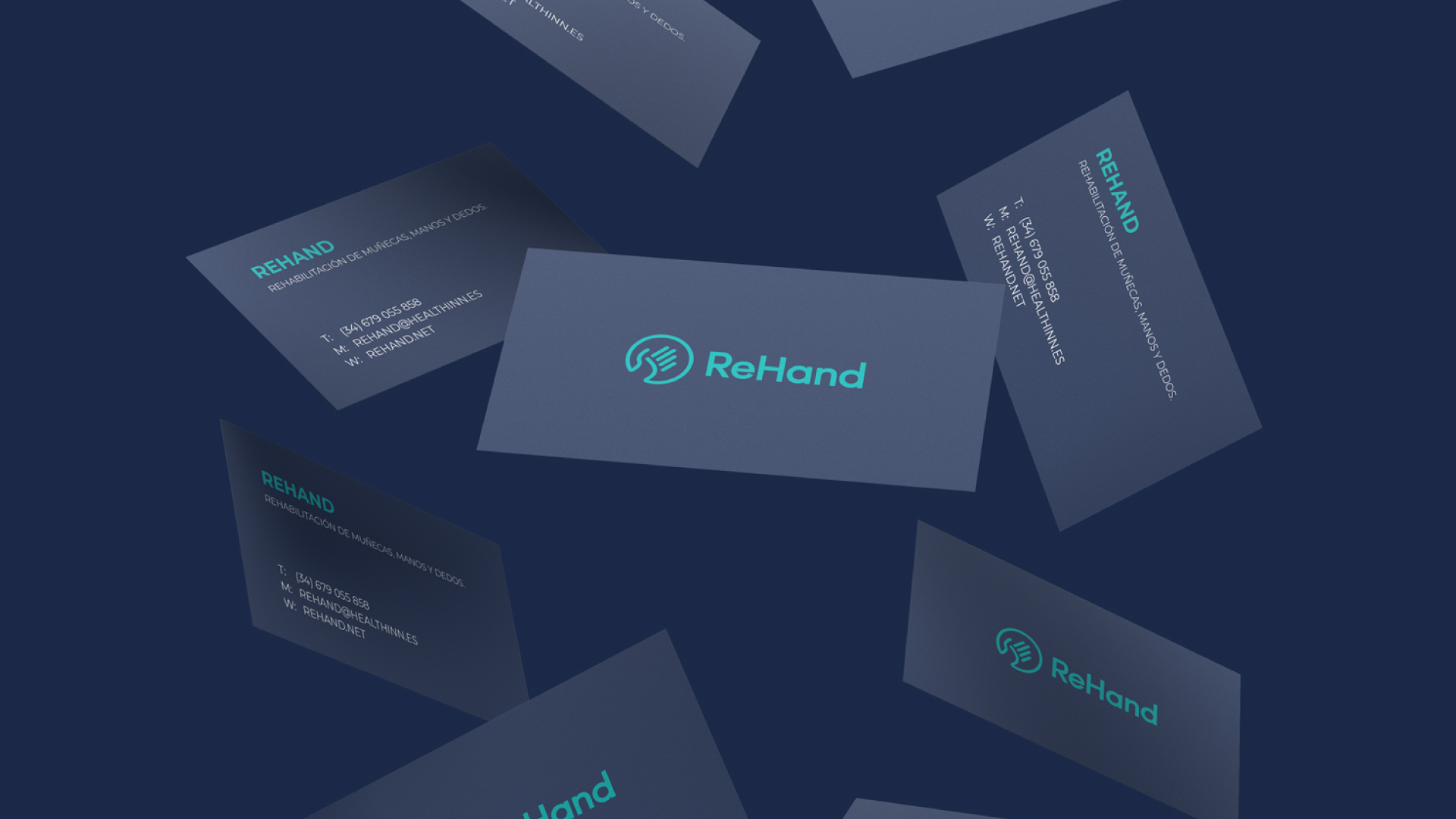 Creación y diseño branding de Rehand, Agencia creativa Eiduo