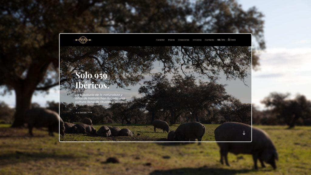web responsive de ecomerce 959 ibericos