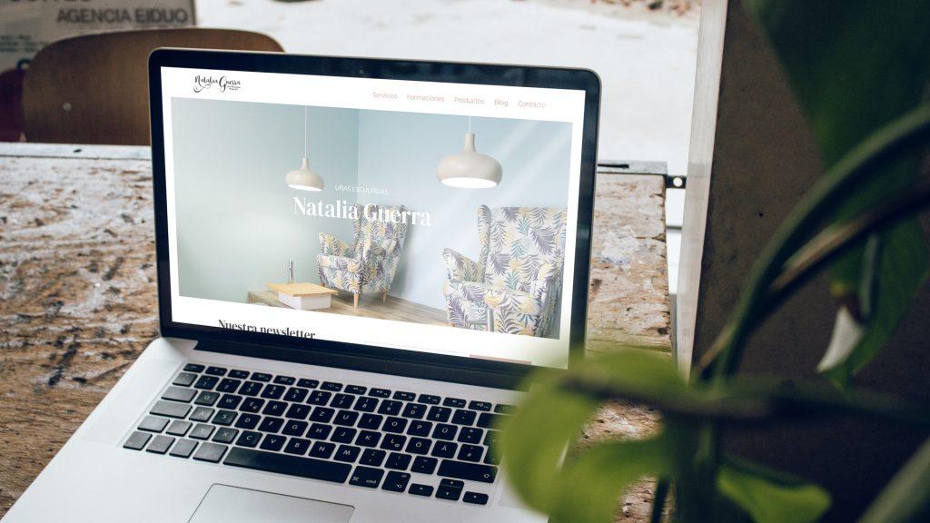 Digitalización web corporativa para Natalia Guerra
