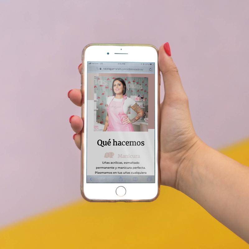 Creación de la web adaptada a móviles para Natalia Guerra
