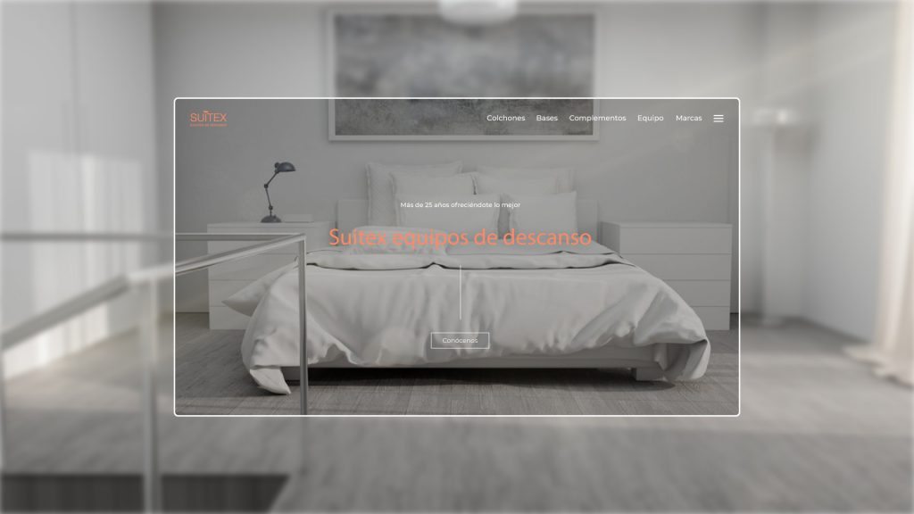 Diseño web corporativa de colchones Suitex creado por la agencia de creación web Eiduo