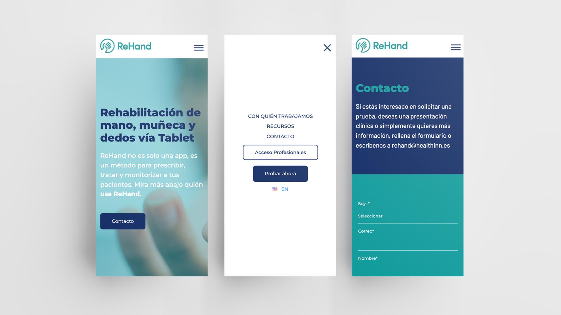 Proyecto App Rehand creado por la agencia de marketing Eiduo